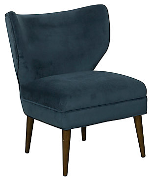 HomePop Wingback Accent Chair, Blue, large