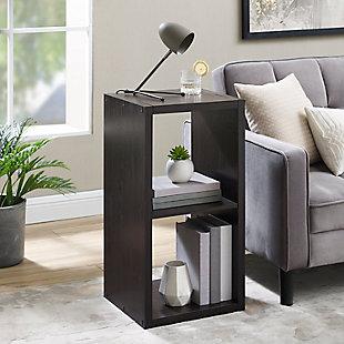 Two Cube Gwen Storage Shelf, Espresso, large