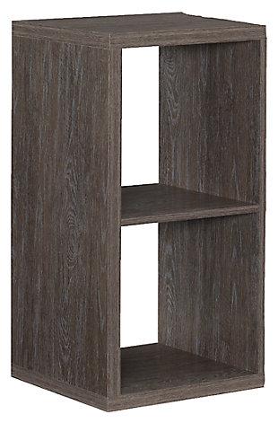 Two Cube Gwen Storage Shelf, Ash Gray, large