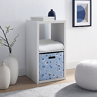 Two Cube Gwen Storage Shelf, White, rollover