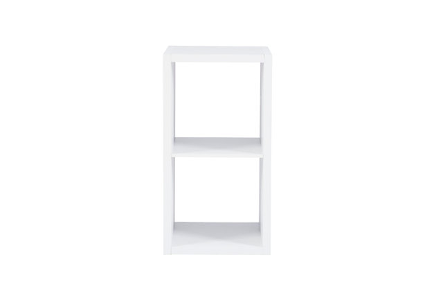 Two Cube Gwen Storage Shelf, White, large
