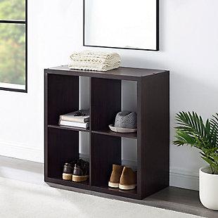 Four Cube Gwen Storage Shelf, Espresso, large
