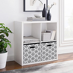 Four Cube Gwen Storage Shelf, White, rollover