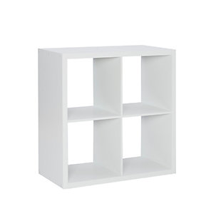 Four Cube Gwen Storage Shelf, White, large