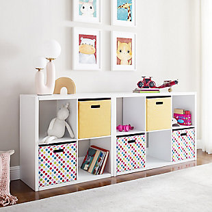 Six Cube Gwen Storage Shelf, White, rollover