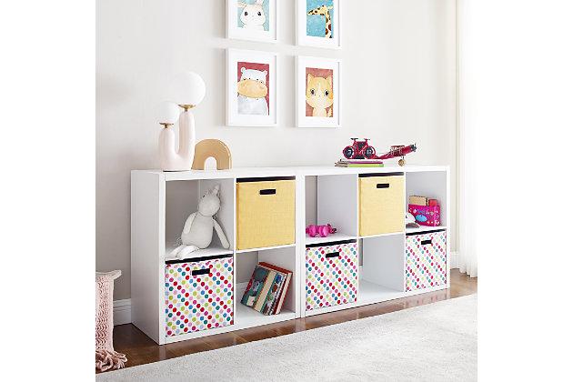 Six Cube Gwen Storage Shelf, White, large