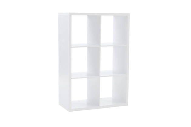 Six Cube Gwen Storage Shelf, White, large