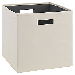 Foldable Gwen Storage Bin (Set of 2), Linen, large