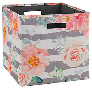 Foldable Gwen Storage Bin (Set of 2), Multi, large