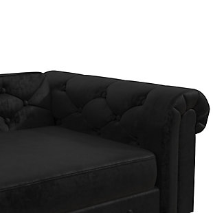 Ollie & Hutch Felix Pet Sofa with Small to Medium Bed, Black, large