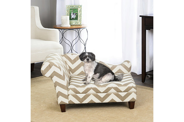 Kinfine HomePop Decorative Pet Bed Chaise Lounger, , large