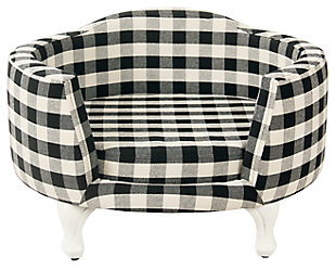 Kinfine Decorative Pet Bed Mini Black Plaid, , large