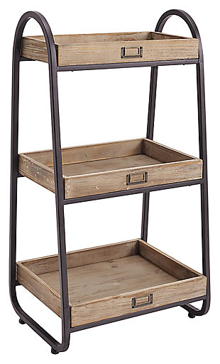 Linon Three Tiered Bath Stand, , large