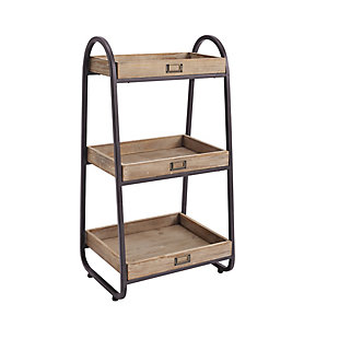 Linon Three Tiered Bath Stand, , rollover