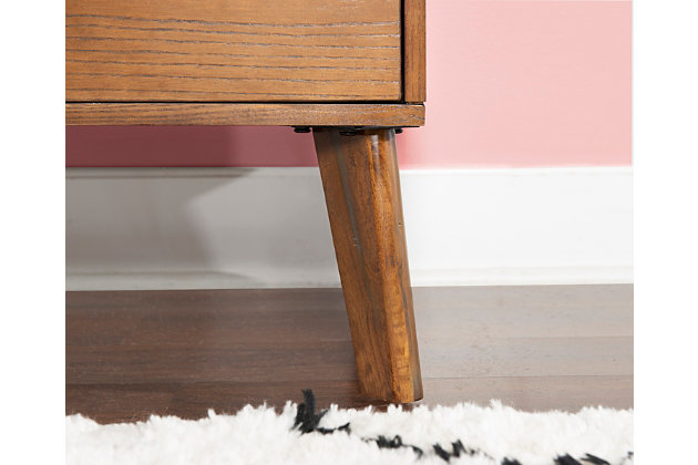 Linon One Drawer Nightstand, , large