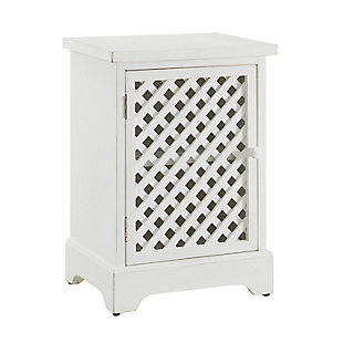 One Door Cabinet White, , large