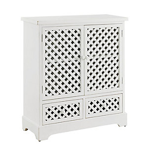 2 Door 2 Drawer Cabinet White, , large