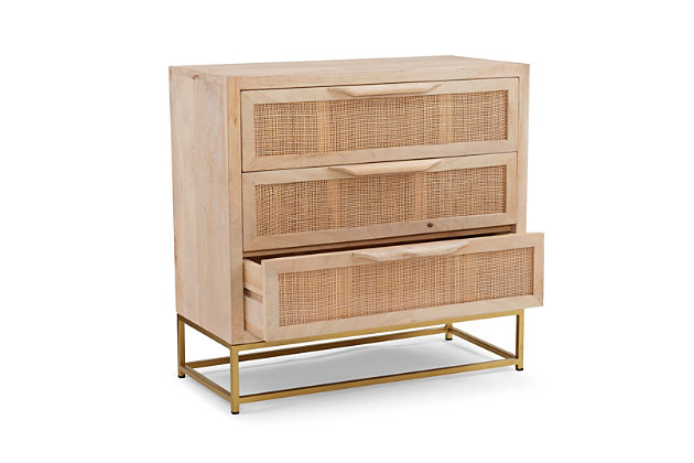 Rattan Cabinet Three Drawers, , large