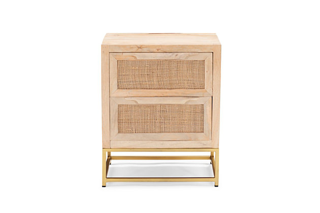 Rattan Cabinet Two Drawers, , large