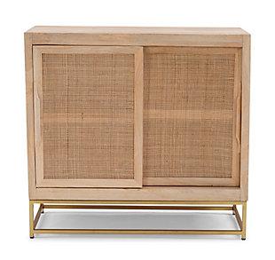 Rattan Cabinet Two Sliding Doors, , large
