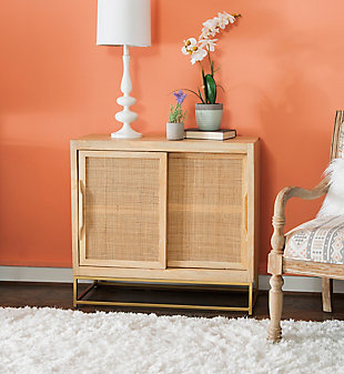 Rattan Cabinet Two Sliding Doors, , rollover