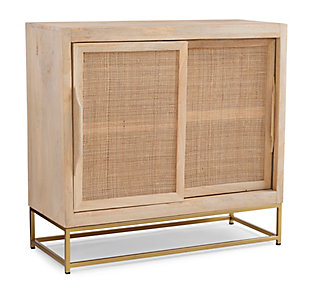 Rattan Cabinet Two Sliding Doors, , large