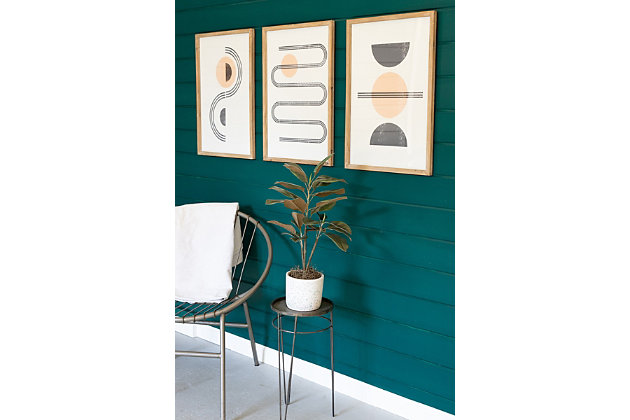 Abstract Prints Under Glass Wall Art (Set of 3), , large