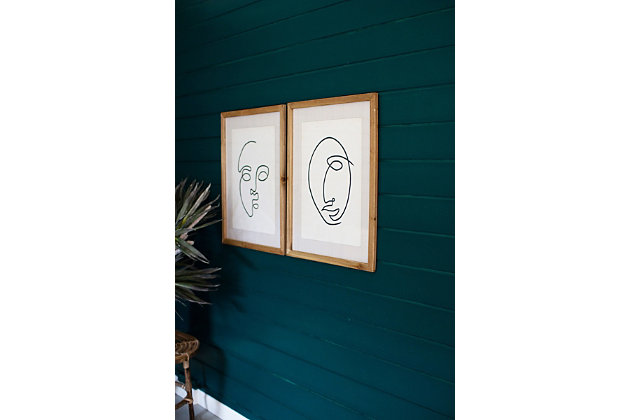Face Prints Under Glass Wall Art (Set of 2), , large