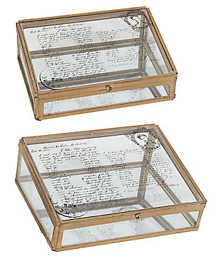 Home Accents Box (Set of 2), Antique Bronze Finish, large