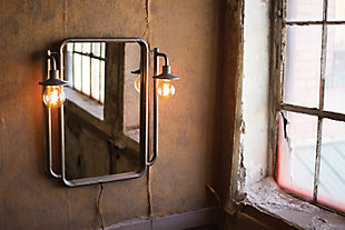 Wall Mirror With Two Lights, , rollover