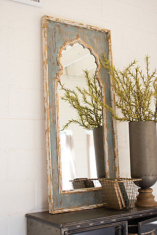 Painted Wooden Mirror, , large