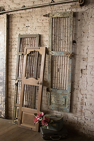 Wood And Iron Door Wall Hanging, , rollover