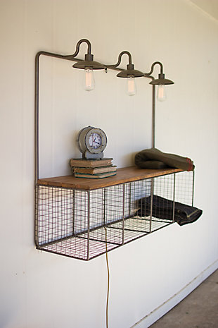 Wire Cubby With Three Lights, , rollover