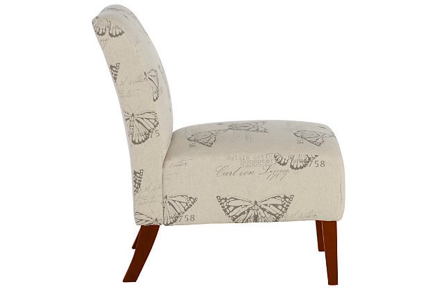 Sandy Butterfly Accent Chair, White, large