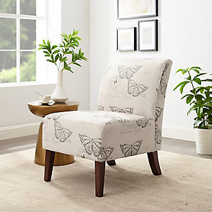 Sandy Butterfly Accent Chair, White, rollover