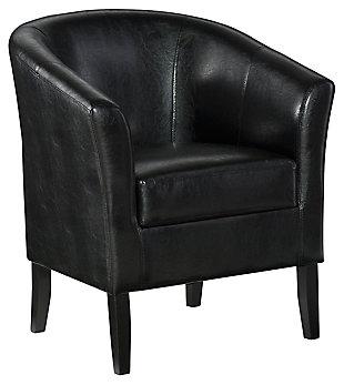 Black Scotty Club Chair, Black, large