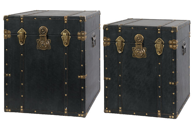 Home Accents Chest (Set of 2) by Ashley HomeStore, Black