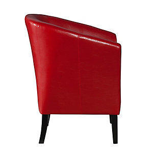 Red Scotty Club Chair, Red, large