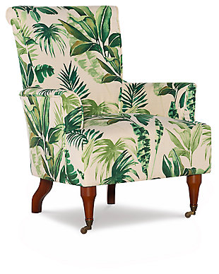 Leaf Jamie Arm Chair, Green/White, large