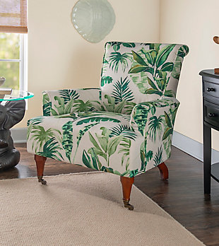 Leaf Jamie Arm Chair, Green/White, rollover