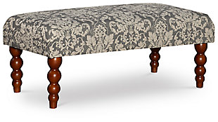 Gray Damask Bench, , large