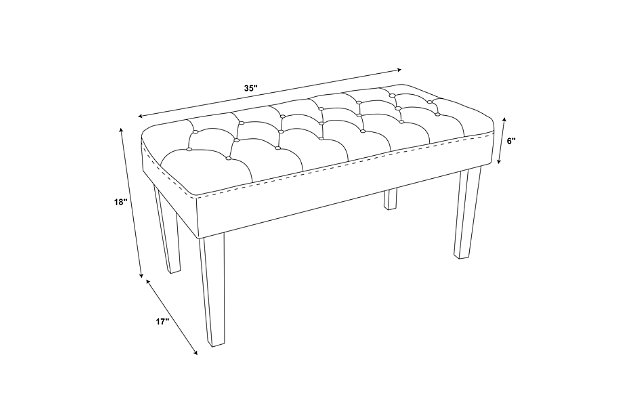 Glitz Francey Acrylic Leg Bench, , large