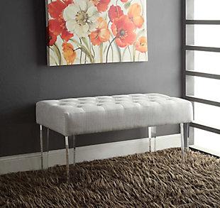 Glitz Francey Acrylic Leg Bench, , rollover