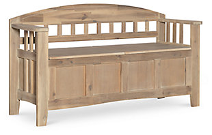 Gray Cara Storage Bench, , large
