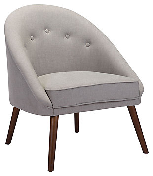 Modern Carter Gray Occasional Chair, White, large