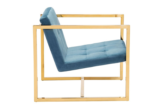 Modern Alt Blue Arm Chair, Blue, large