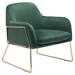 Modern Nadir Green Arm Chair, Green, large