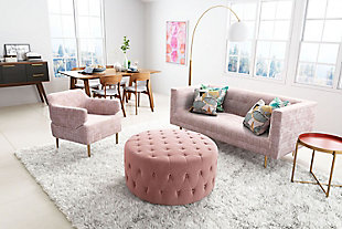 Modern Oasis Pink Arm Chair, , rollover