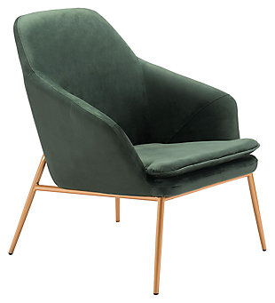 Modern Debonair Green Arm Chair, Green, large