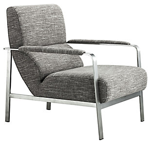 Modern Jonkoping Wheat Arm Chair, Gray, large